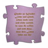 Dachsteinpuzzle Spruch